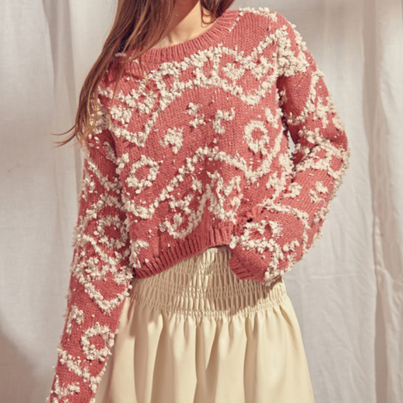 Shaggy Rose Sweater