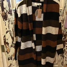 Load image into Gallery viewer, Neutral Striped Cardigan