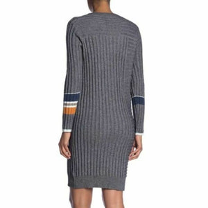 Colorblock Sleeve Sweater Dress
