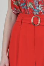 Load image into Gallery viewer, Red Belted Culottes