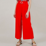 Red Belted Culottes