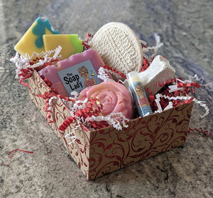 soap and bath products gift box