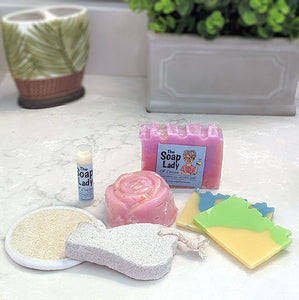 Gift Box of Soap and Bath Products