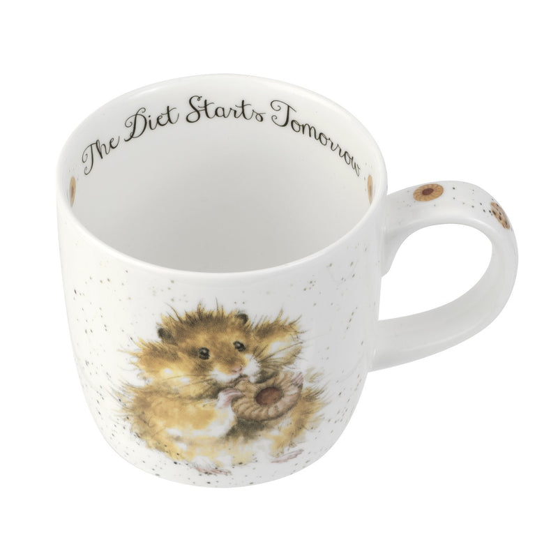 Wrendale Diet Starts Tomorrow Hamster 11oz Mug