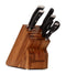 Wusthof Classic Ikon Knife Block 7 Piece Set Acacia Block