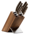 Wüsthof Epicure Seven Piece Knife Block Set with Thermo Wood Block - 9854