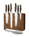 Wüsthof Epicure Seven Piece Knife Block Set with Magnetic Thermo Wood Knife Stand - 9884-2