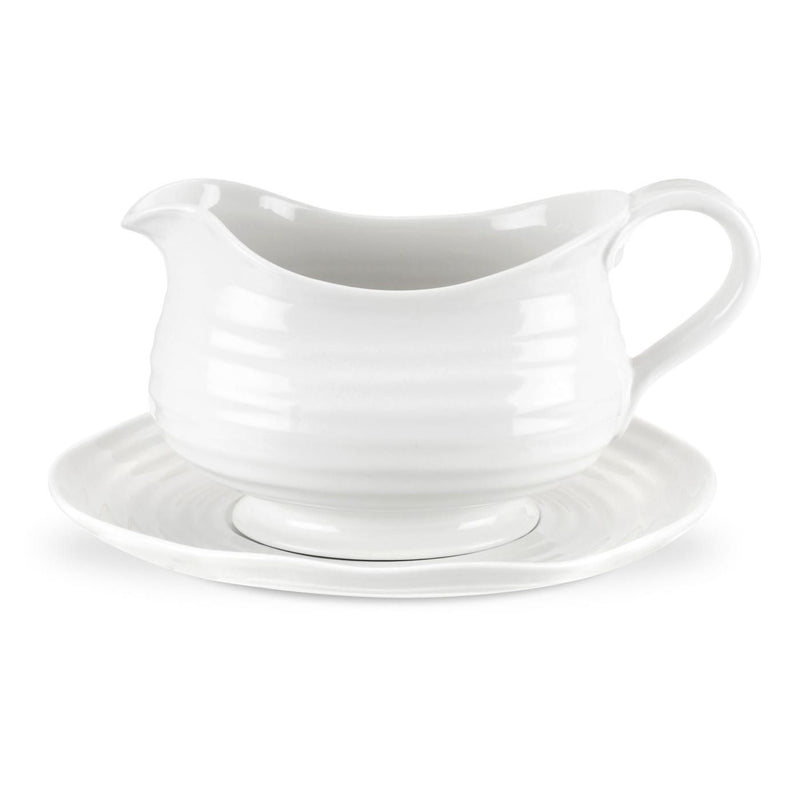 Sophie Conran White Gravy Boat and Stand