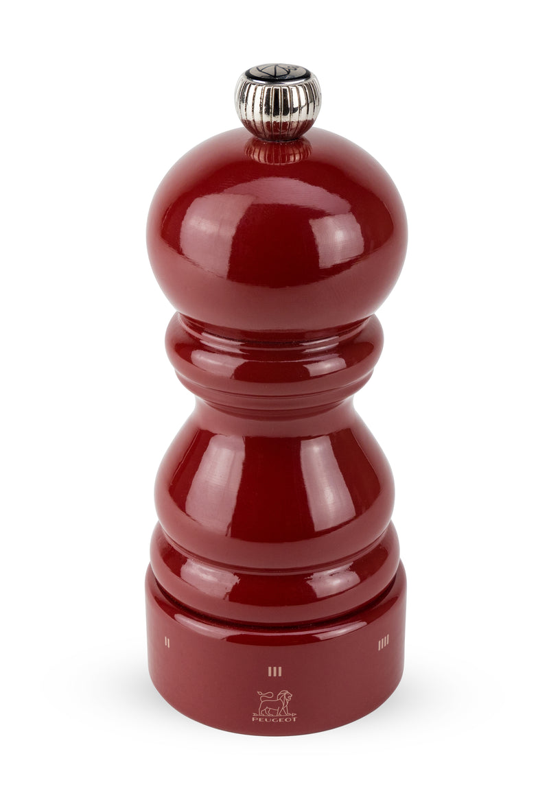 "Paris Pepper & Salt Mill Red Lacquer 5"" to 16"" u'Select"