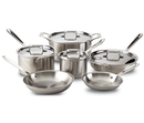 All-Clad d5 Polished Stainless 10-Piece Set