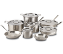All-Clad d5 Polished Stainless 15-Piece Set