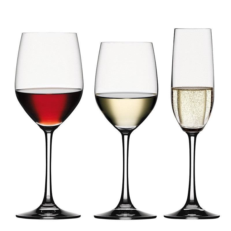 Spiegelau Vino Grande Bundle Set of 12 (4 White Wine glasses, 4 Red Wine glasses, 4 Champagne glasses)