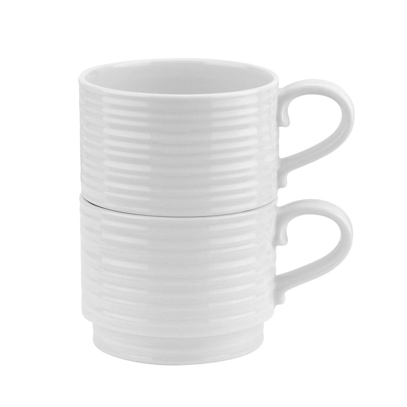 Sophie Conran White Stackable Cups 12oz Set Of 2