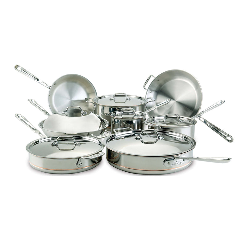 All-Clad Copper Core 5-ply Bonded Cookware Set, 14 piece Set