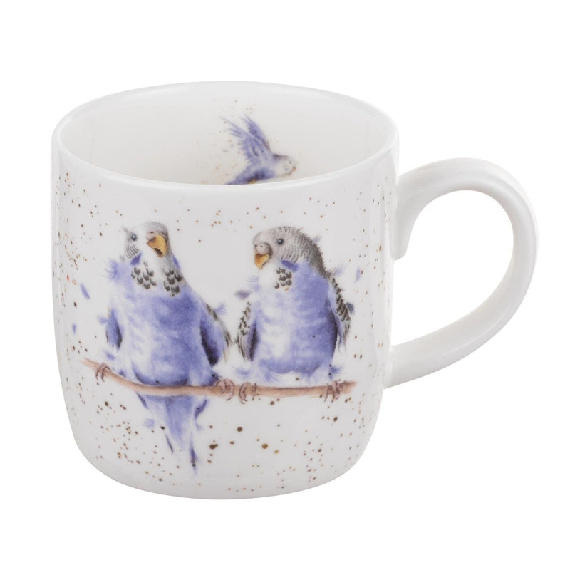 Wrendale Date Night Budgie 11oz Mug