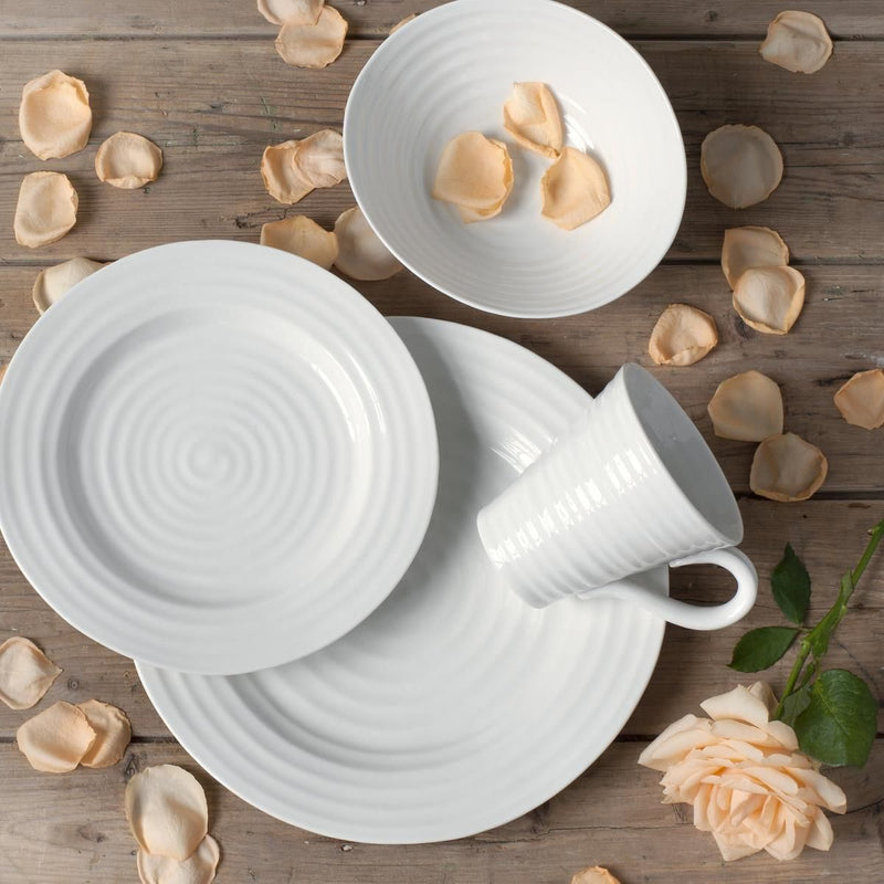 Sophie Conran for Portmeirion White Plate 8 inches Set of 4