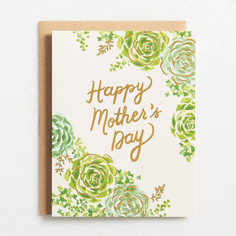Succulents Foil Mother's Day Card