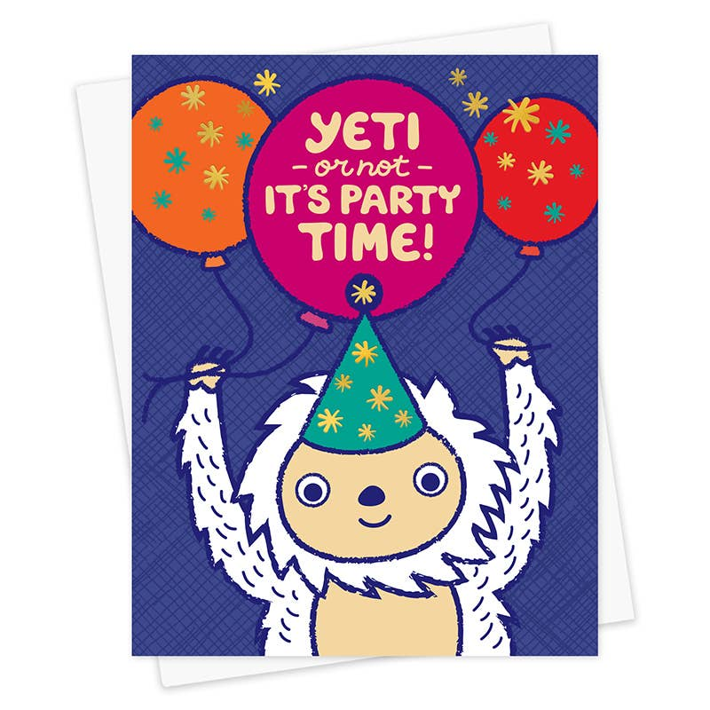 Yeti Foil Stamped Bithday Card