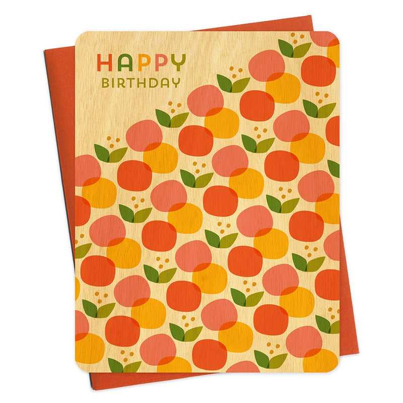 Citrus Pop Wood Birthday Card