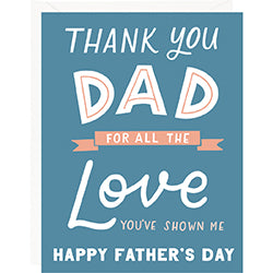 All the Love Father's Day Card