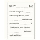 Mad Libs Father's Day Card