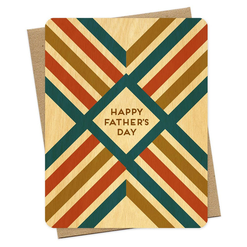 Rustic Lines Wood Father's Day Card