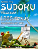 Famous Frog Sudoku Puzzle Book 1,000 Puzzles, 500 Medium and 500 Hard: Jumbo Book With Two Levels To Challenge You