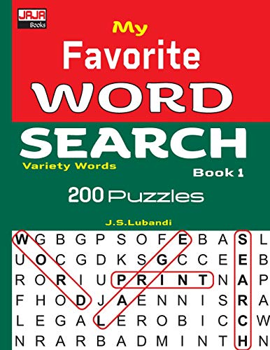 My Favorite Word Search Book 1