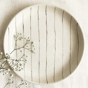Stripe and Lily Tapas Plates (Set of 2 )