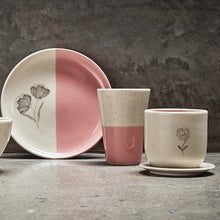 Load image into Gallery viewer, Pastel Pink Breakfast Set ( 1 Quarter Plate, 1 Tumbler, 1 Herbal Teacup, 1 Saucer )