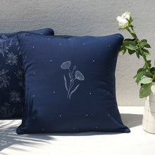 Load image into Gallery viewer, Navy Peony Cushion Cover