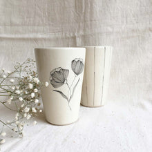 Load image into Gallery viewer, Peony and Stripe Tumblers (Set of 2)
