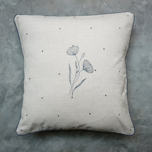Beige Poppy Cushion Cover