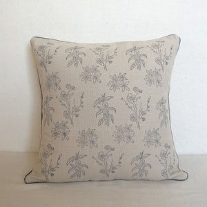 Beige Wildflower Cushion Cover