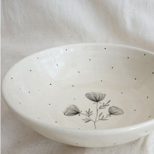 Carnations Salad Bowl (Sold Individually)