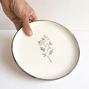Chameli and Bouquet Quarter Plates (Set of 4 )