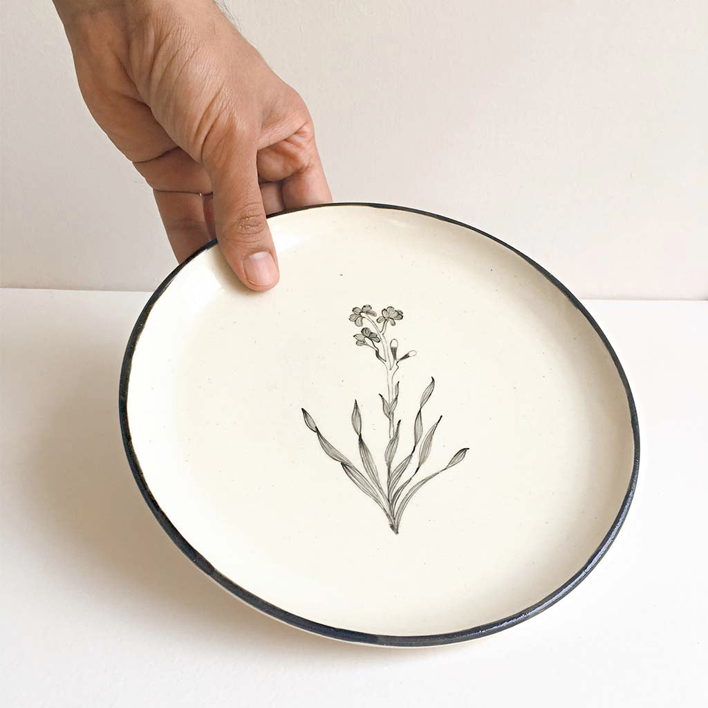 Bouquet Quarter Plate