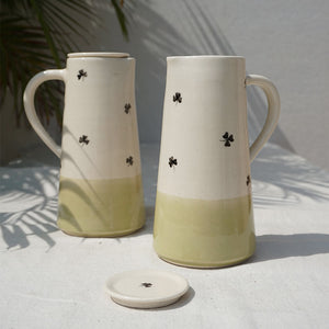 Olive Clover Jug with lid (Sold Individually)