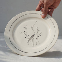 Load image into Gallery viewer, Crane in a Garden, Salad Plate (Sold Individually)