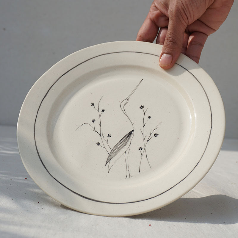 Crane in a Garden, Salad Plate (Sold Individually)