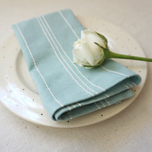 Load image into Gallery viewer, Mint Stripe Dining Napkins (Set of 2)