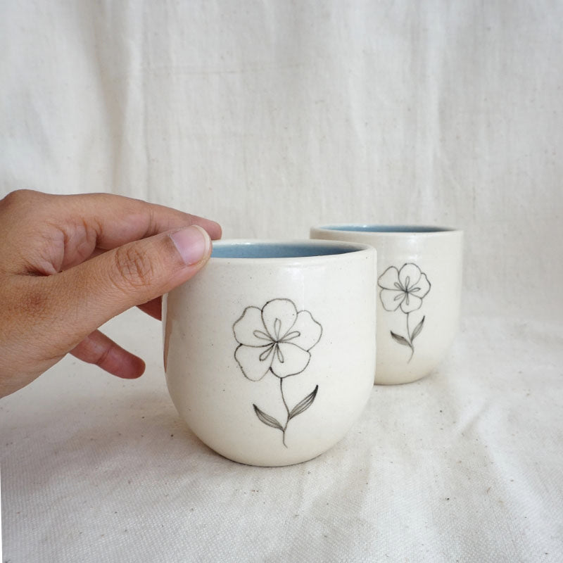Frangipani Herbal Teacups (Set of 2)