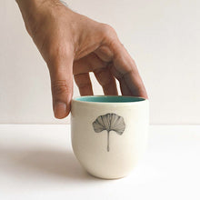 Load image into Gallery viewer, Gingko Herbal Teacups, Mint (Set of 2)