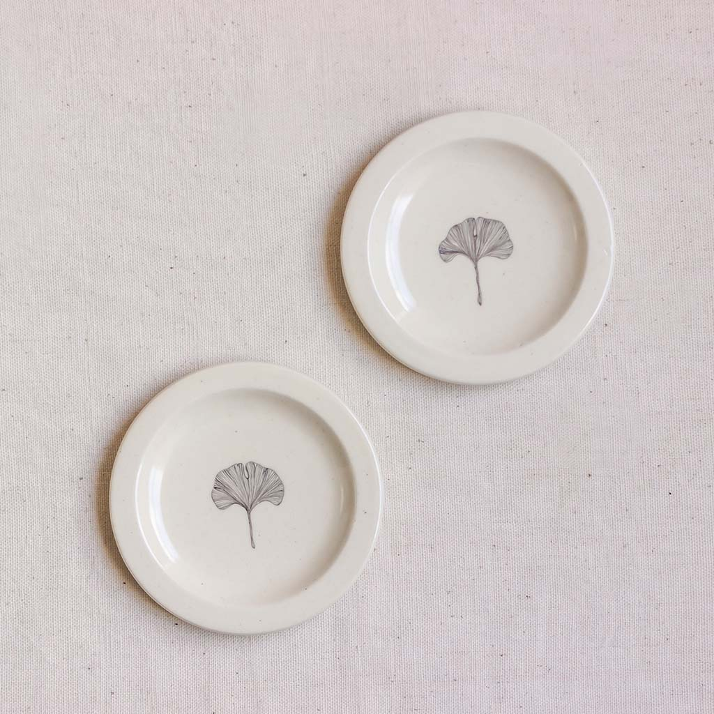 Gingko Saucers (Set of 2)