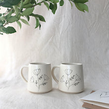 Load image into Gallery viewer, Ice Poppy, Large Mugs ( Set of 2 )