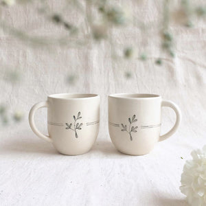 Lily Coffee Mugs (Set of 2)