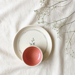 Lily Tapas Plate and Pinch Bowl set (Set of 2 )