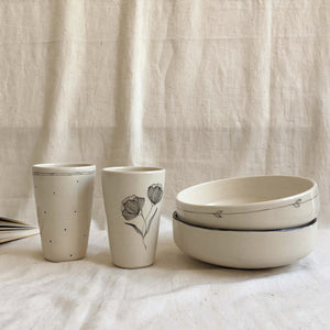 Autumn Afternoon Meal Set (2 Pasta Bowls, 2 Tumblers)