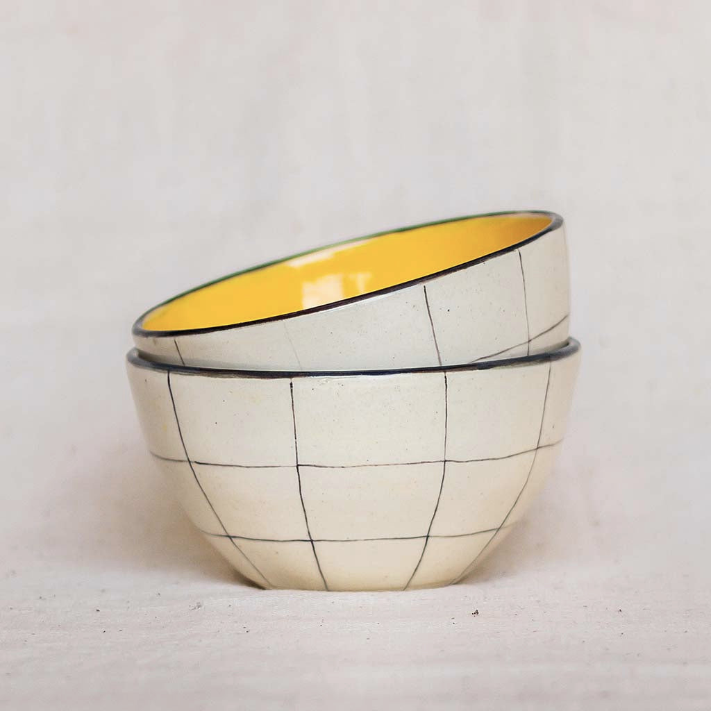 Chauko Snack Bowl, Mustard (Set of 2)