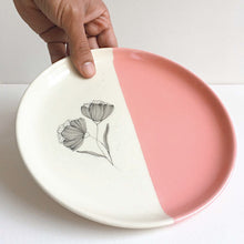 Load image into Gallery viewer, Peony Quarter Plate,  Pink
